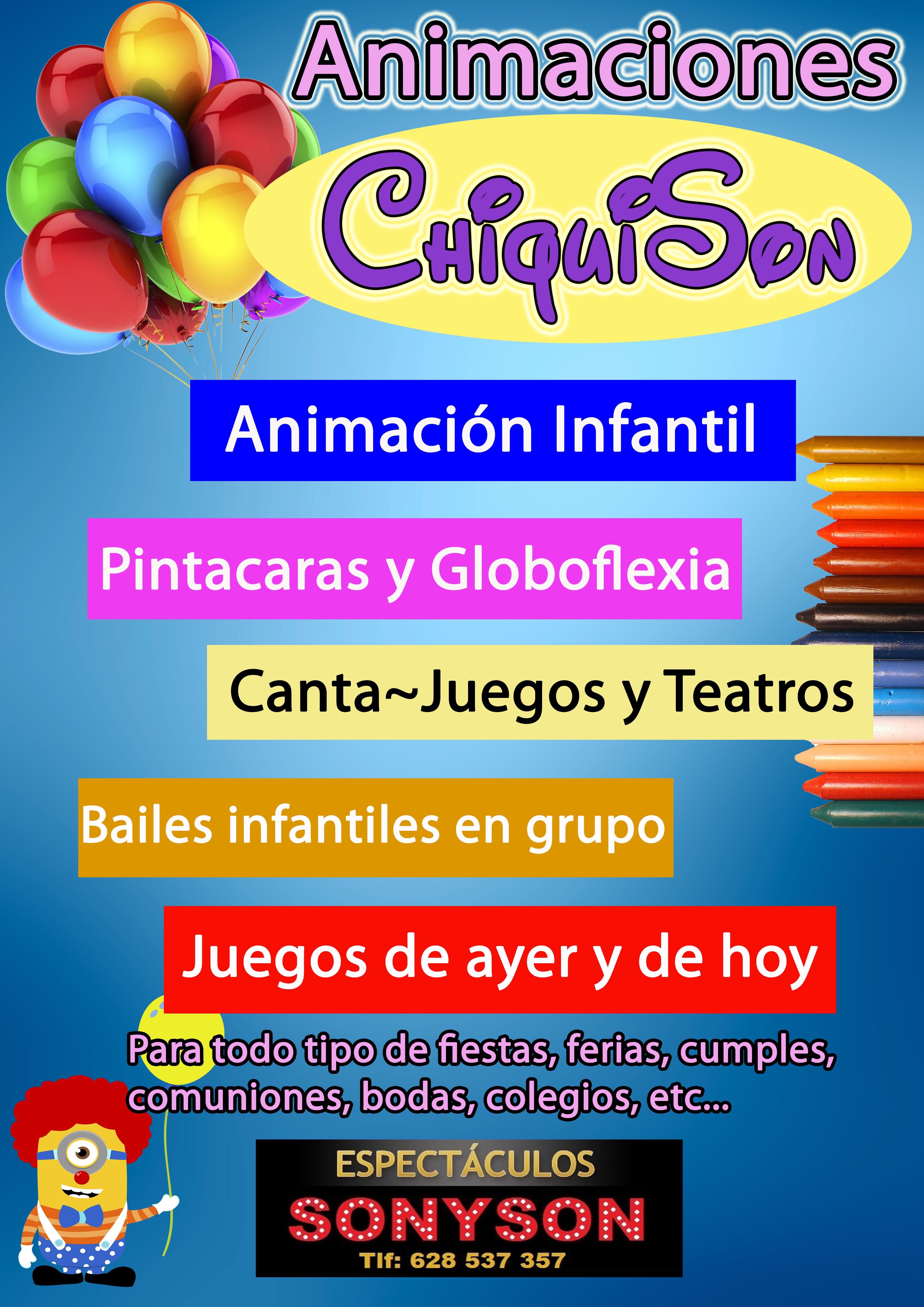 cartel fiestas infantiles